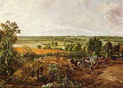 Τζον Κόνσταμπλ: Η κοιλάδα Στάουρ και η εκκλησία του Ντέντχαμ (1814-1815). Λάδι σε καμβά, 55 εκ. x 78 εκ. Μουσείο Καλών Τεχνών, Βοστόνη, ΗΠΑ.