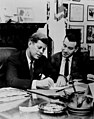 John F. Kennedy and Sol Chaikin in Kennedy's office, October 1960 (5278469025).jpg