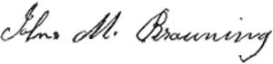 John Browning - Image: John M. Browning signature