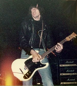 Johnny Ramone - Johnny Ramone playing at The Eagle Hippadrome in 1983