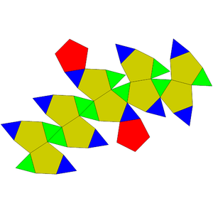 Pentagonal orthobirotunda - Image: Johnson solid 34 net