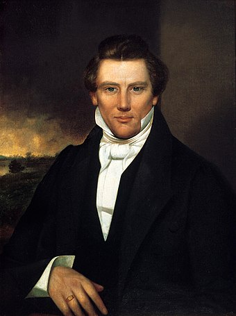 Joseph Smith, American religious leader and founder of Mormonism and the Latter Day Saint movement Joseph Smith, Jr. portrait owned by Joseph Smith III.jpg