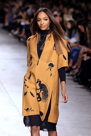 Topshop - Jourdan Dunn at the 2009 London Fashion Week Topshop show.