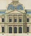 Jules Hardouin-Mansart, élévation du corps central du château de Clagny - Archives nationales.jpg