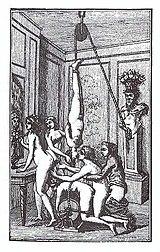 """Εικόνα από τη γερμανική έκδοση της """"Ζυλιέτ"""" το 1800"""