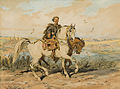 Julius Kossak. Cossack with spare horse 1894.jpg