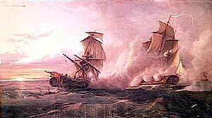 Junon vs HMS Fox