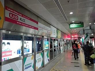 KLCC LRT station - Image: KLCC LRT platform doors