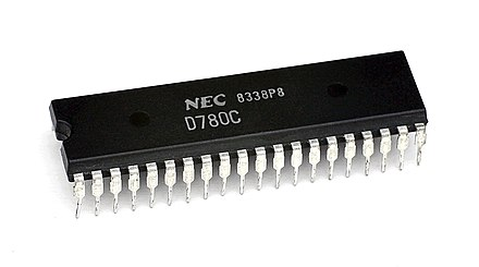 NEC's mPD780C Z80 second-sourced by NEC KL NEC uPD780C.jpg