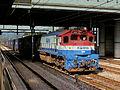 KOREAN RAILWAYS (KO RAIL) FREIGHT TRAIN AT INCHON STATION SEOUL SOUTH KOREA OCT 2012 (8214172012).jpg