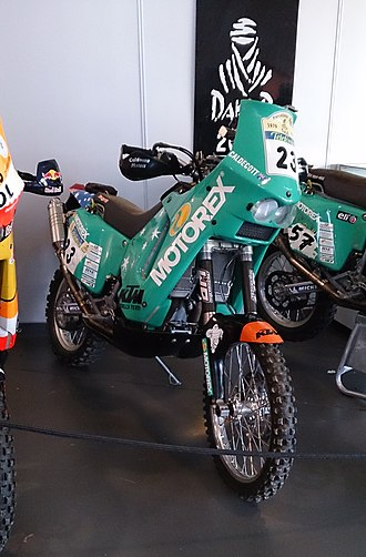 Andy Caldecott - The KTM on which Caldecott placed sixth in the 2005 Dakar Rally
