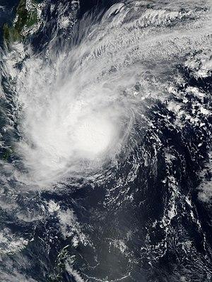 2014 Pacific typhoon season - Image: Kajiki Jan 31 2014 0440Z
