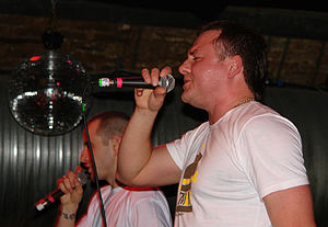 Abradab - Michał and Marcin Marten during their concert in London in 2008