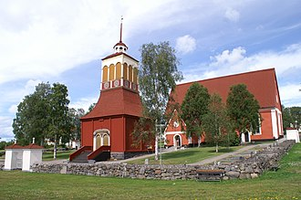 Kalix Church - External view with the bell tower