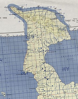 Kanin Peninsula - Kanin Peninsula - US Army map 1956
