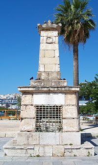 Μνημείο για τον Γ. Καραϊσκάκη στο Φάληρο.