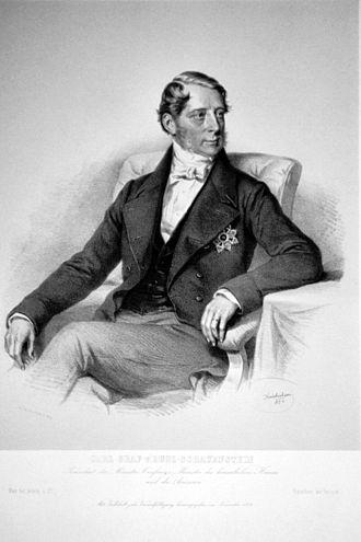Count Karl Ferdinand von Buol - Lithograph by Josef Kriehuber, 1854