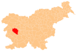 The location of the Municipality of Idrija