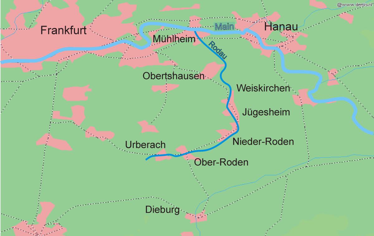 Main Fluss Karte.Rodau Main Wikipedia