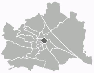 Innere Stadt - Image: Kartewien 1