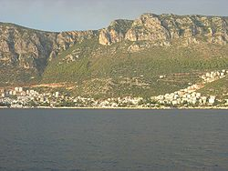 Part of the town seen from the sea