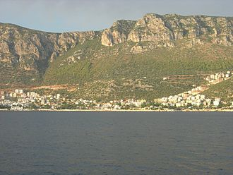 Kaş - Part of the town seen from the sea