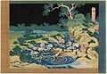 Katsushika Hokusai - Fishing by Torchlight in Kai Province (kôshû hiburi) - One Thousand Pictures of the Ocean (Chie no Umi).jpg