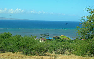 Archeological Sites at Kawela - Kawela lies across a narrow channel to Lāna{{okina}}i island