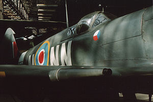 No. 310 Squadron RAF - Spitfire Mk IX in 310 Squadron markings at Prague Aviation Museum, Kbely
