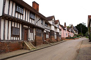 Kersey, Suffolk - Traditional cottages in Kersey