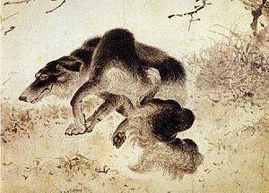 Gim Du-ryang - Image: Kim Duryang Scratching dog