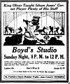 King Oliver at Boyd's Studio Madison Wisc 1924.jpg
