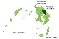 Vị trí của Kirishima ở Kagoshima