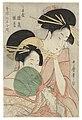 Kitagawa utamaro the courtesans hinazuru and hinamatsu of the chojiya020210).jpg
