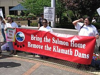Klamath Tribes - Upper Basin Klamath Tribes demonstration in Portland in 2006