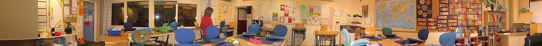 Panoramabillede over et svensk klasserum i Falköping, november 2010