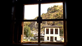 Albania - The League of Prizren building in Prizren from inside the courtyard.