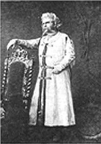 Mazeppa (opera) - Bogomir Korsov as Mazeppa, Bolshoi Theatre, Moscow, 1884