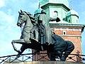 Krakov, Stare Miasto, Wawel, jezdecká socha Tadeusze Kosciuszka.JPG