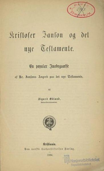 File:Kristofer Janson og det nye Testamente.djvu