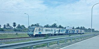 Kualanamu International Airport - Kualanamu ARS (Airport Railink Service) train