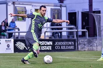 Kurtis Byrne - Byrne in action for Bohemians away to Galway United in 2016.