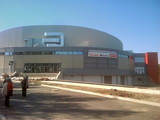 KV Arena indoor ice hockey rink in Karlovy Vary, Czech Republic