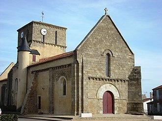 Le Bernard - The church of Saint-Martin-de-Tours, in Bernard
