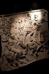 Trajan giving the starting signal - Scene of Trajan's Column