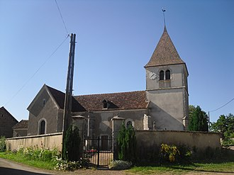 Charny, Côte-d'Or - The church in Charny
