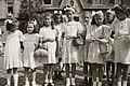 Lányok alkalmi ruhában 1947, Budapest. Fortepan 14738.jpg