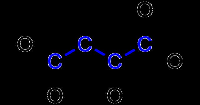 file:l-malic acid (blue) formula v.1 - wikimedia commons, Skeleton