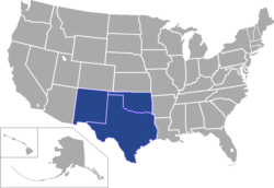 Lone Star Conference locations