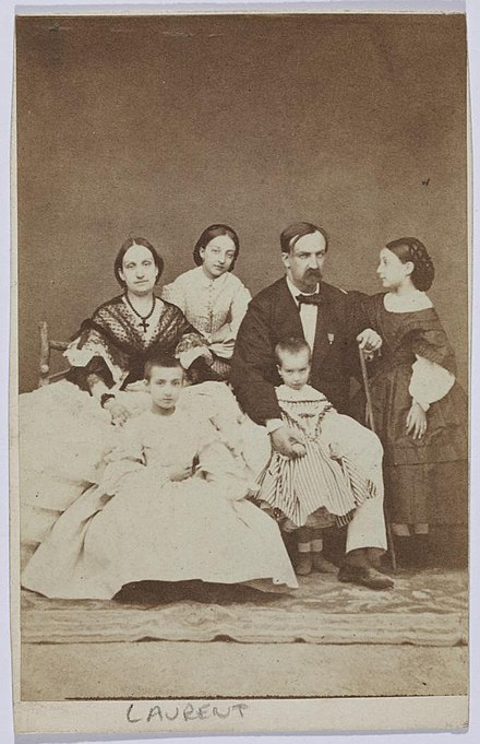 Infanta Luisa Fernanda with her husband Duke of Montpensier and four of their children. La Familia Montpensier.jpg